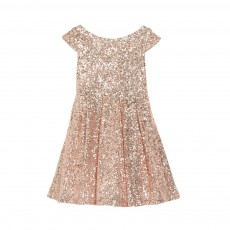 Robe Sequins Moon Festival Rose