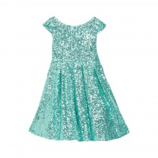 Robe Sequins Moon Festival Bleu