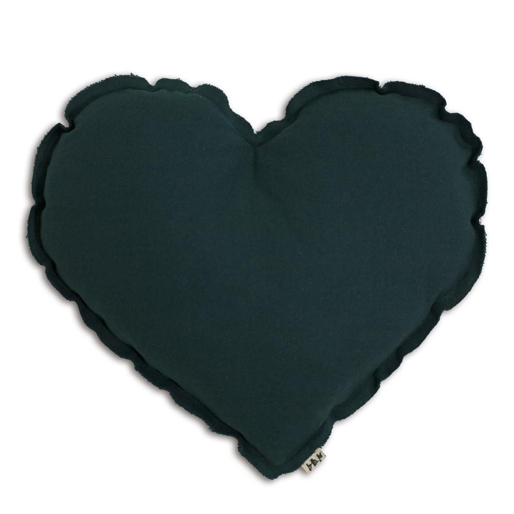 coussin coeur bleu p trole numero 74 d coration smallable. Black Bedroom Furniture Sets. Home Design Ideas