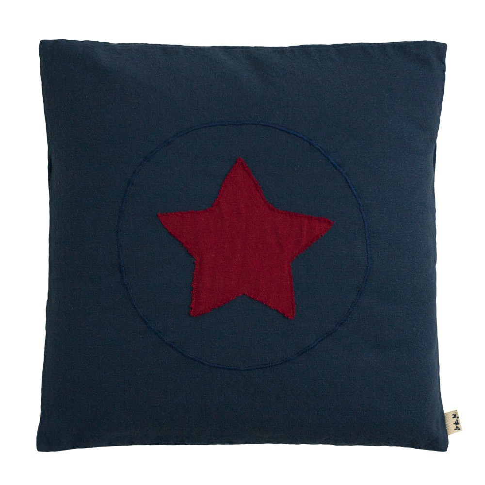 coussin super h ros bleu marine numero 74 d coration smallable. Black Bedroom Furniture Sets. Home Design Ideas