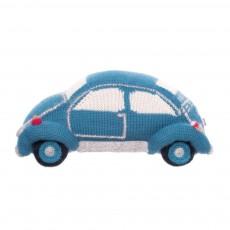Doudou voiture turquoise