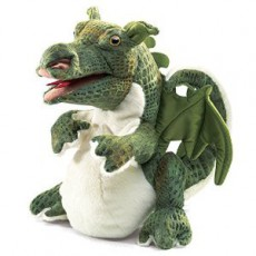 Marionnette dragon Vert