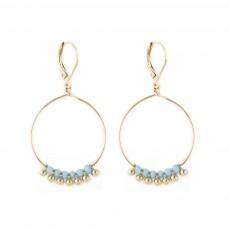 Boucles d'oreilles Souk Bleu turquoise