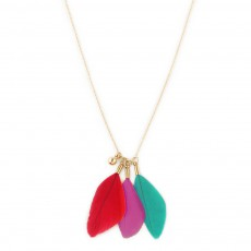 Collier Plumes Rose