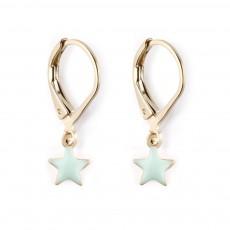 Boucles d'oreilles Star Vert d'eau