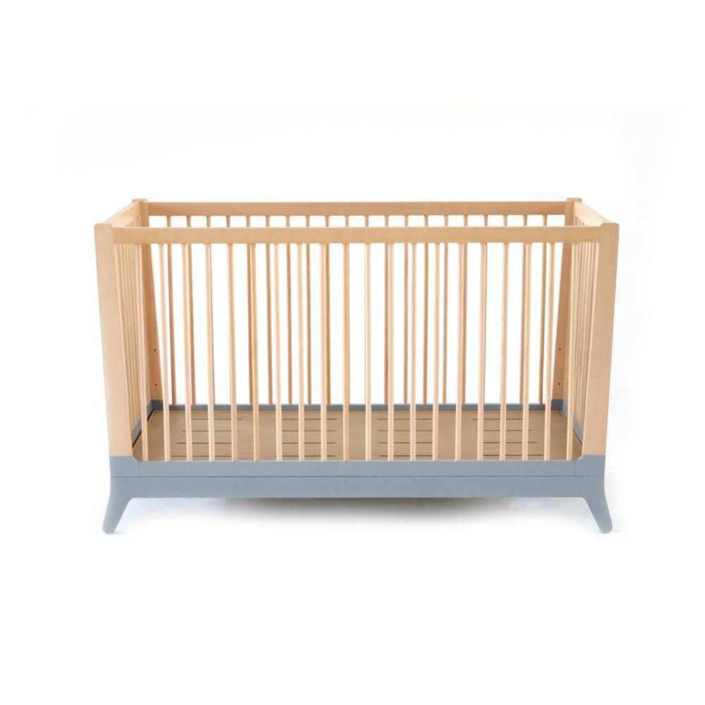 lit b b volutif gris nobodinoz mobilier smallable. Black Bedroom Furniture Sets. Home Design Ideas