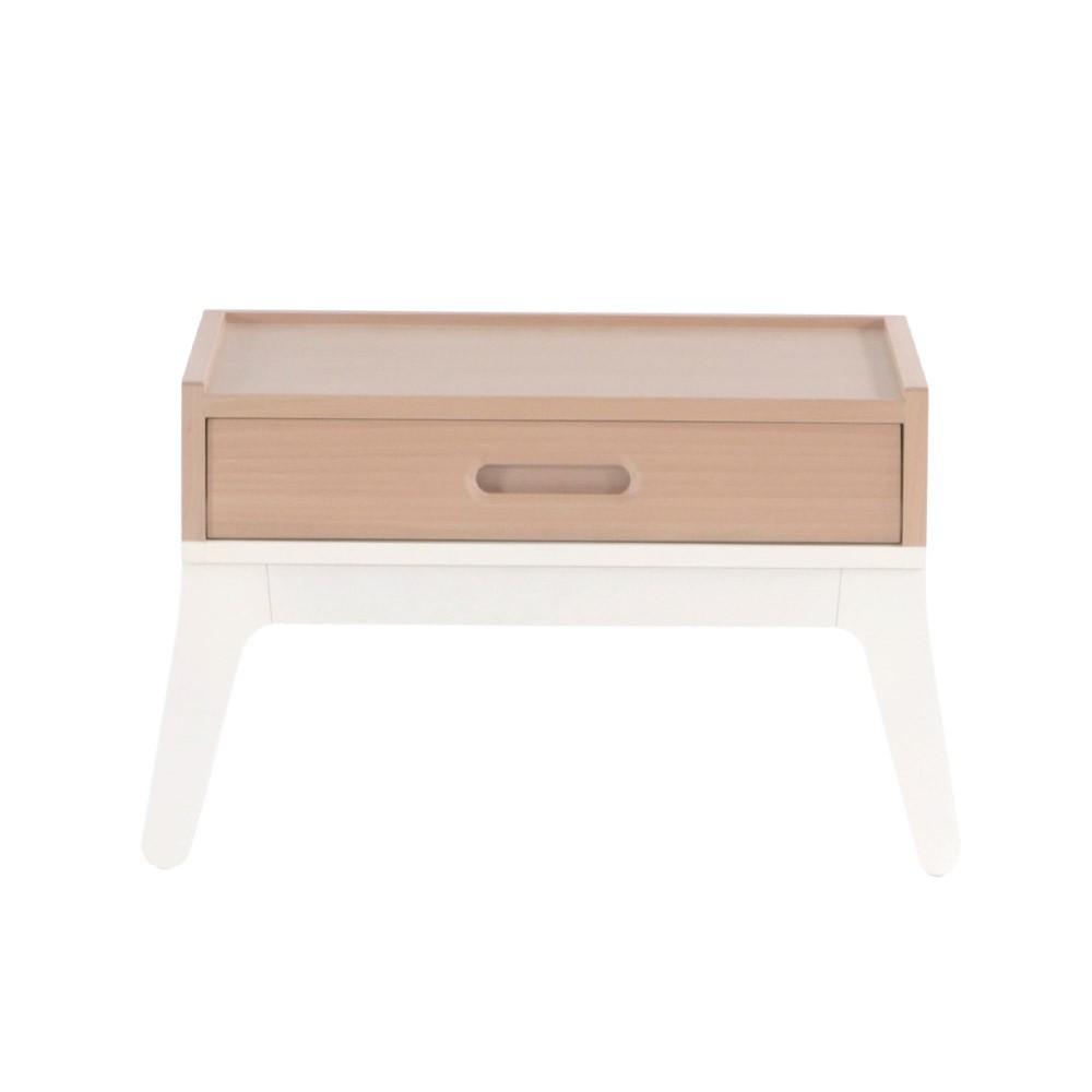 Table de nuit blanc nobodinoz mobilier smallable for Petite table de nuit