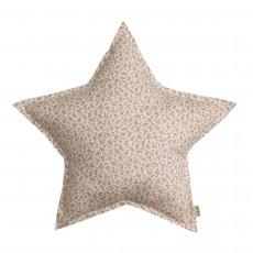 Coussin étoile - Fleuri Ecru
