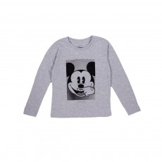 T-shirt Mickey LS Gris chiné