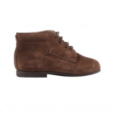 Chaussures Premiers Pas Velours Taupe