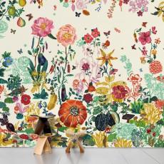 Papier peint Jardin crème - Nathalie Lété