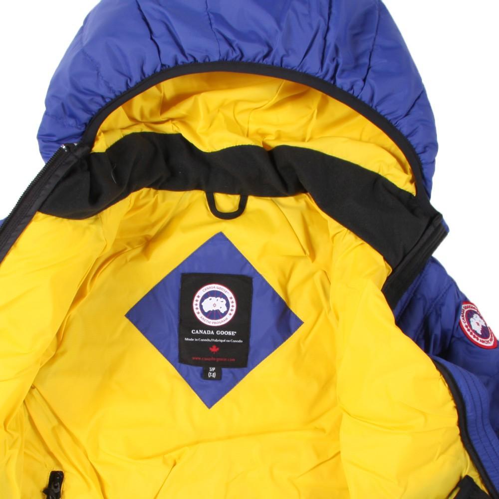 yellow canada goose jacket
