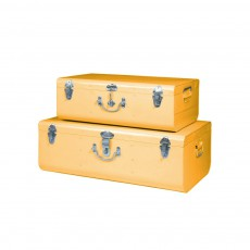 Set de 2 valises métal Jaune
