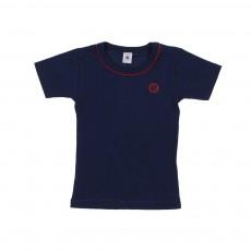 T-Shirt Jersey Lycra Bleu marine