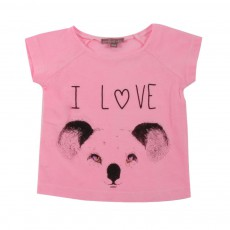 T-shirt I Love Koala Rose bonbon