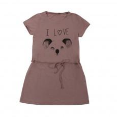 Robe I Love Koala Vieux Rose