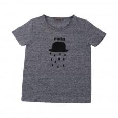 T-shirt Chapeau Rain Bleu chiné