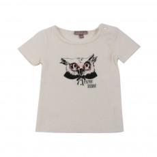 T-shirt Papou Hibou Ecru