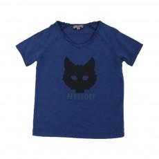 T-shirt Petit Loup Bleu