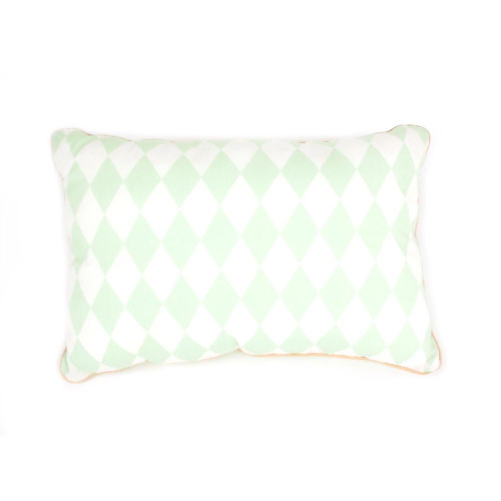 coussin losanges vert nobodinoz d coration smallable. Black Bedroom Furniture Sets. Home Design Ideas