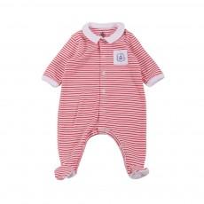 Pyjama Pieds Macadam Blanc