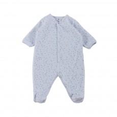 Pyjama Pieds Manoir Bleu pâle