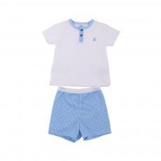 Pyjama 2 pièces Marcelo Blanc