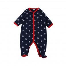 Pyjaman Pieds Etoiles Marin Bleu