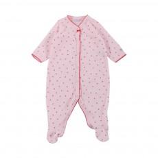 Pyjama Pieds Fraises Manguier Rose pâle