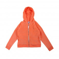 Sweat Capuche Base Velours Meredith Corail