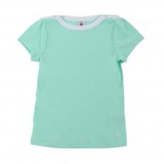 T-shirt Basic Encolure Amiral Vert