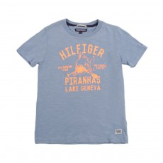 T-Shirt Fun Hilfiger Bleu