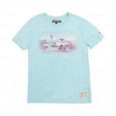 T-Shirt Explore Bleu