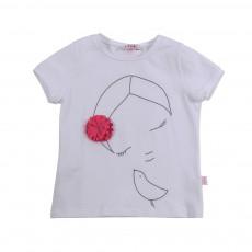 T-shirt Oiseau Rose