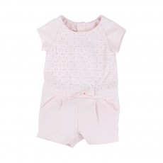 Combishort Broderie Anglaise Rose