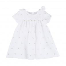 Robe Nœuds Lurex Et Bloomer Blanc