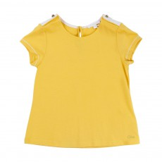 T-shirt Boutons Dorés Jaune