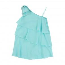 Robe Asymétrique Bleu pâle