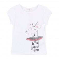 T-shirt Girafe Blanc