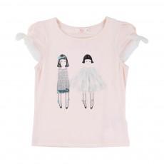 T-shirt Poupées Rose pâle