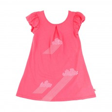 Robe Nuages Sequins Rose fluo