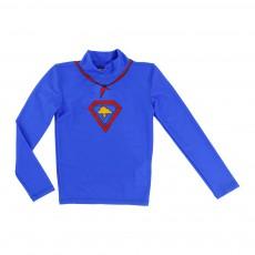 T-Shirt Anti UV Super Héros Bleu électrique