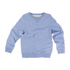 Sweat Col rond Bleu chiné