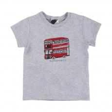 T-shirt Bus Anglais Gris chiné
