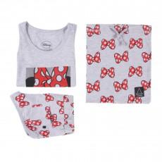 Pyjama Débardeur et Short Minnie Gris chiné