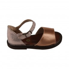 Sandales Cuir Renfort Arrière Doré