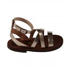 Sandales à lanières Doré