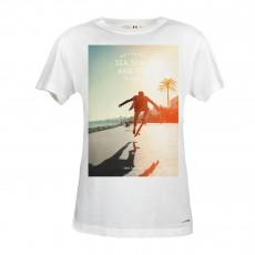 T-Shirt Skateboy Blanc