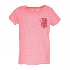 T-shirt Poche Menuetgi Rose fluo