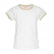 T-Shirt Dentelles Jivegi Blanc